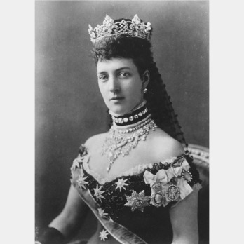 Queen Alexandra of Denmark wearing the Imperial Order of the Crown of India.