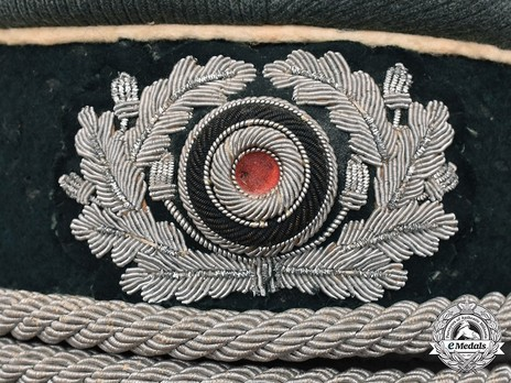 German Army Infantry Officer's Visor Cap Detail Wreath & Cockade