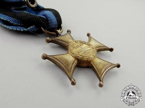 Order of Virtuti Militari, Type II, Gold Cross (1939-1992) Reverse