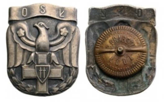 Badge (for Officers Communication School) Obverse and Reverse