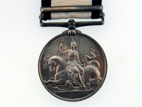 """Silver Medal (with """"ALGIERS"""" clasp) Reverse"""