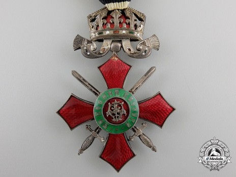 Order of Military Merit, V Class (with crown 1900-1944) Obverse