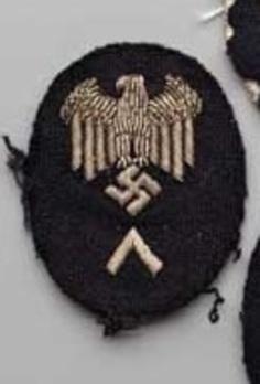 Kriegsmarine Officials' Workshop Service Insignia (Low & Medium Careers version; 1938-1945) Obverse