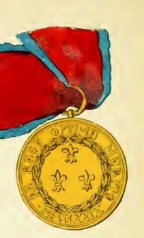 Royal Order of Francis I, Medal, in Gold Reverse