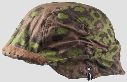 Waffen-SS Camouflage Helmet Cover (1st pattern) Left