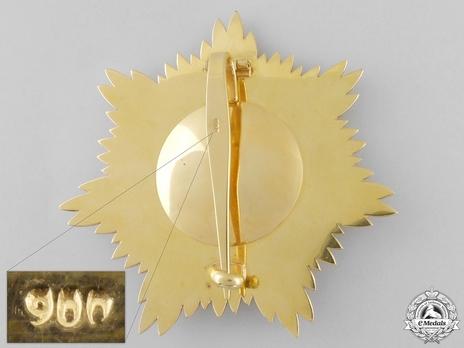 Order of the Leader (Nishan-i-Sadari), I Class Grand Cordon Breast Star (Sardar-i-A'ala) Reverse