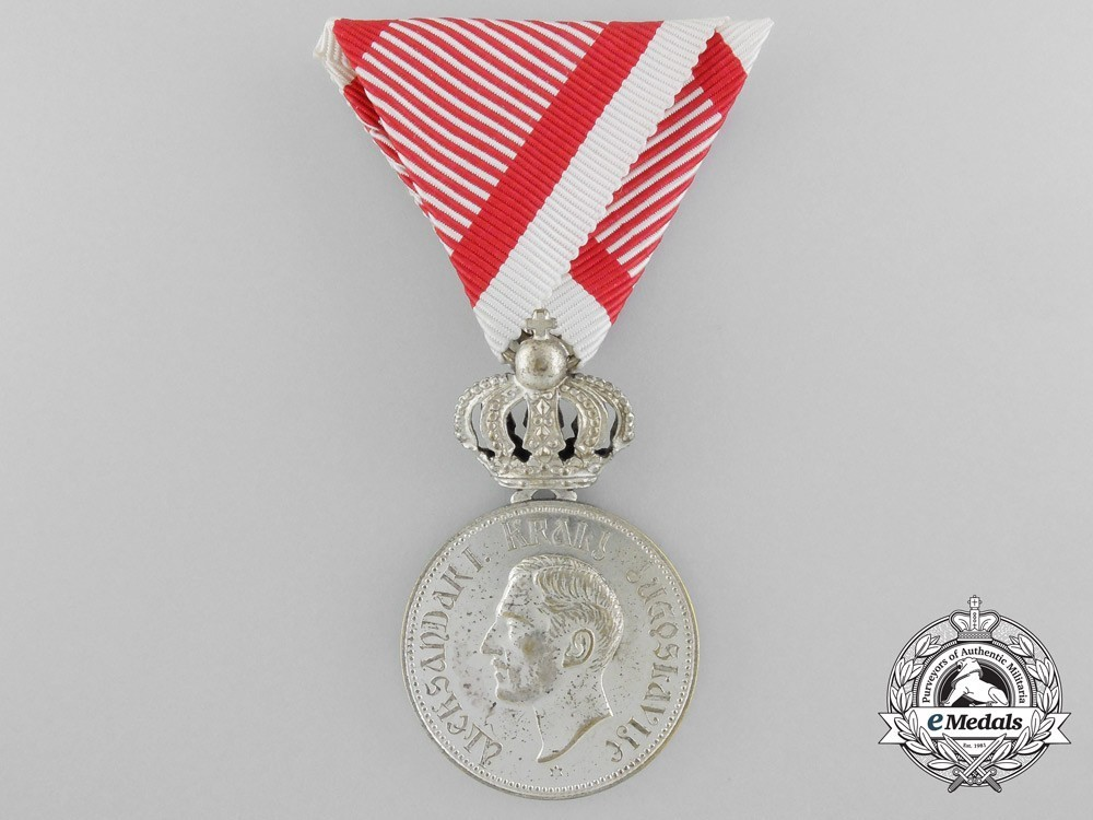 Royal+household+medal+of+king+alexander+i+karadordevic%2c+in+silver+1