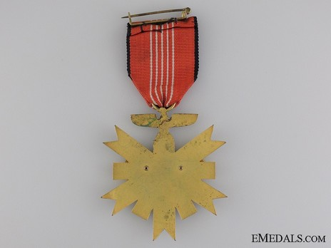 German Olympic Games Decoration, II Class Reverse