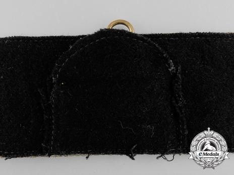 Kriegsmarine Officer's Brocade Dress Belt Strap Reverse