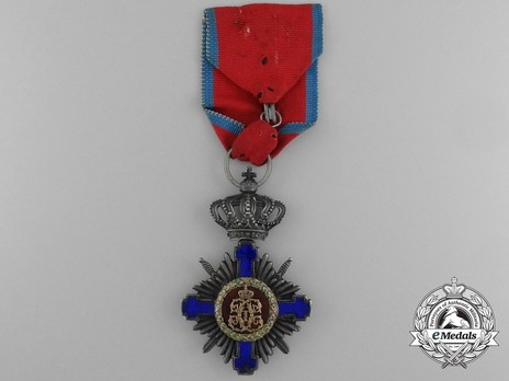The Order of the Star of Romania, Type I, Military Division, Knight's Cross (wartime) Reverse