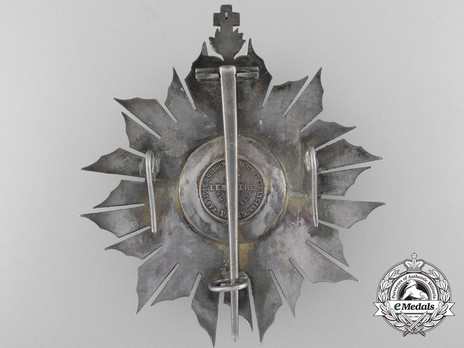 Grand Cross Breast Star (Silver gilt) Reverse
