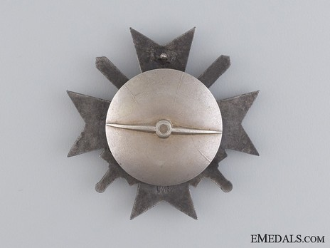 War Merit Cross I Class with Swords, by P. Meybauer (L/13, tombac, screwback) Reverse