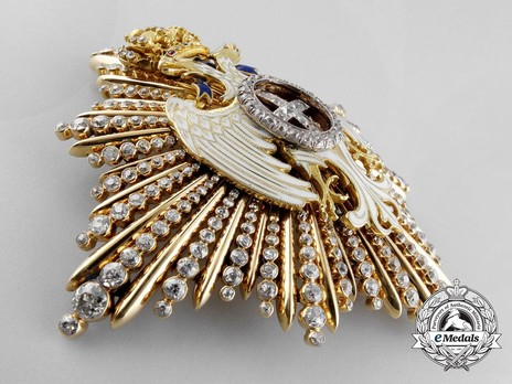 Order of the White Eagle, Type I, Civil Division, I Class Breast Star, with Diamonds Obverse