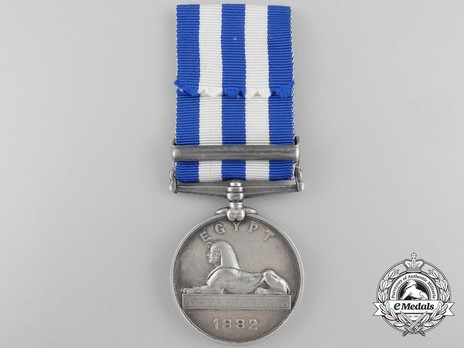 """Silver Medal (with """"SUAKIN 1884"""" clasp) Reverse"""