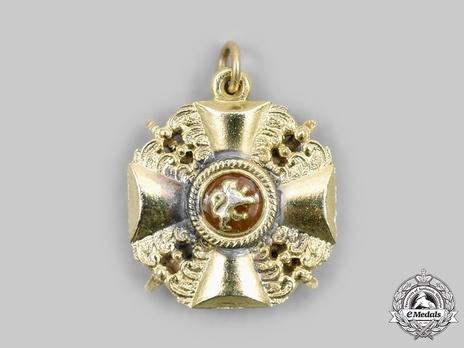 Order of the Zahringer Lion, Grand Cross Miniature Reverse