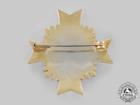 Order of May, Military Merit, Grand Cross Breast Star Reverse