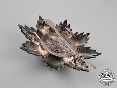 Order of the Brilliant Star of Zanzibar, Type VI, I Class Breast Star Reverse
