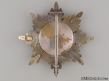 Order of the White Eagle, Breast Star (1764-1831) Reverse