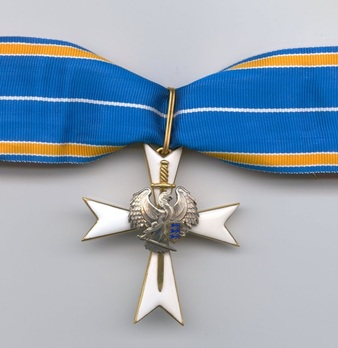 White Cross of the Estonian Defence League, I Class Obverse