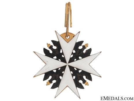 Order of St. John, Type II, Knight of Honour Cross (in silver gilt) Reverse