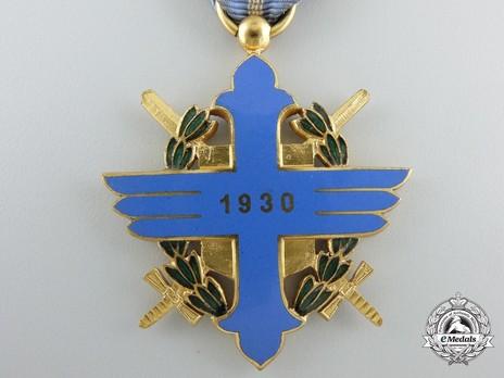 Order of Aeronautical Virtue, Type I, Civil Division, Officer's Cross Reverse