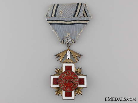 Order of the Estonian Red Cross, V Class Cross Reverse