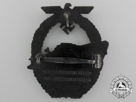 E-Boat War Badge, Type II, by C. Schwerin Reverse