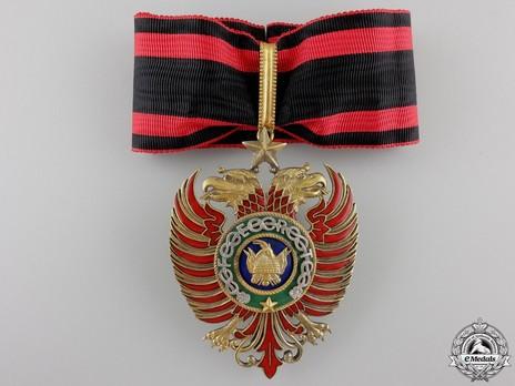 Order of Skanderbeg, Type II, Grand Officer's Cross Obverse