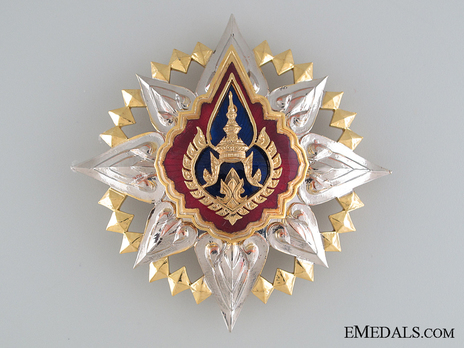 Order of the Crown of Thailand Knight Grand Cross breast star (I Class) Obverse