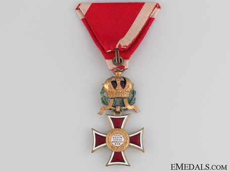 Order of Leopold, Type III, Military Division, Knights Cross (with War Decoration) Reverse