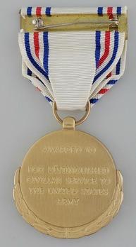 Decoration for Distinguished Civilian Service Reverse