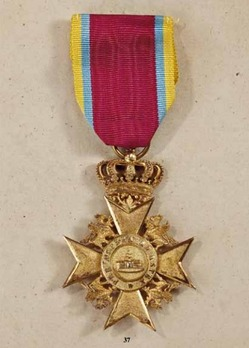 Order of the Wendish Crown, Gold Merit Cross (in silver gilt)