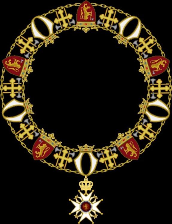 460px collier ordre de saint olaf type 1906