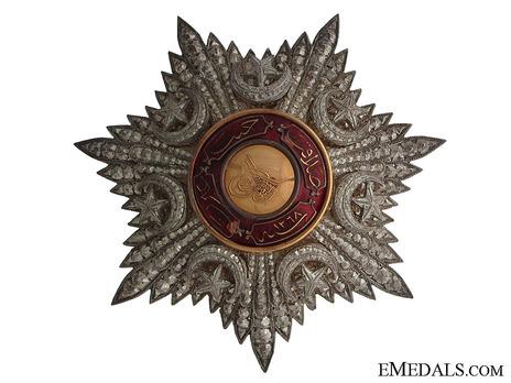 Order of Medjidjie, Civil Division, I Class Breast Star Obverse