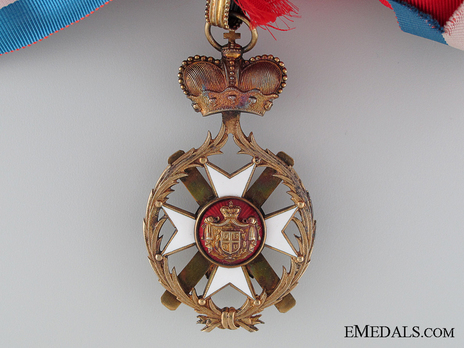 Order of the Cross of Takovo, Civil Division, II Class Reverse