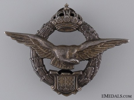 Army Air Service Pilot's Badge Obverse