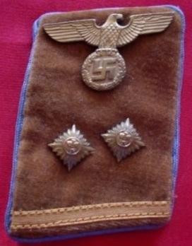 NSDAP Ober-Bereitschaftsleiter Type IV Ort Level Collar Tabs Obverse