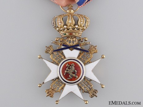 Order of St. Olav, Knight I Class, Military Division (1847-1906) Obverse
