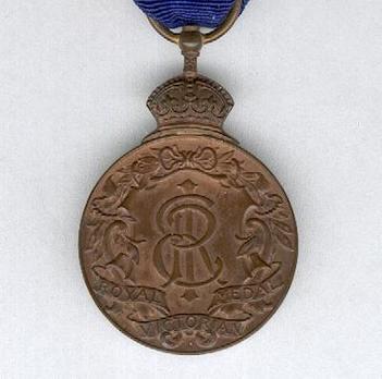 Miniature Bronze Medal (1910-1936) Reverse