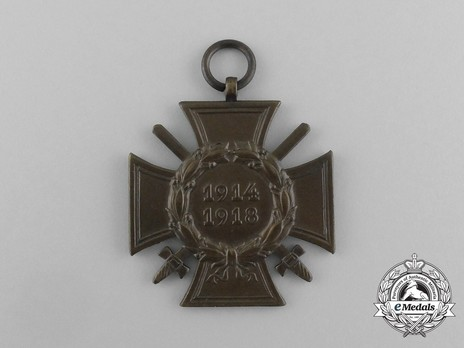 Honour Cross of the World War 1914/1918 (for front line combatants) Obverse