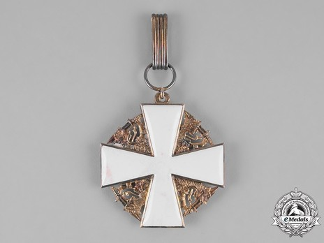 Order of the White Rose, Type I, Civil Division, II Class Commander Cross Reverse