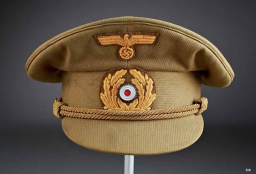 Kriegsmarine Officer Ranks Tropical Visor Cap