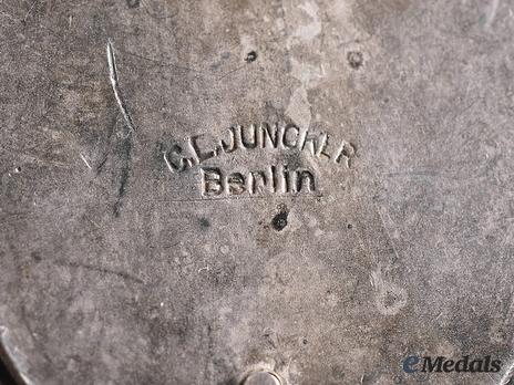 Air Gunner Badge, by C. E. Juncker (in silvered brass, marked) Mark