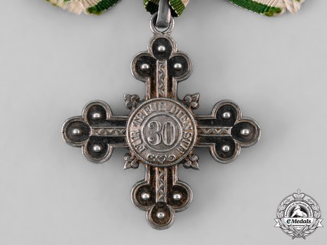 Long Service Decoration for Domestic Service, Silver Cross for 30 Years (for faithful service)