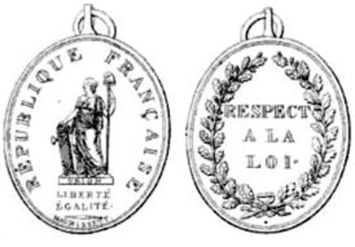 "Silver Medal (stamped ""MAURISSET.F."") Obverse and Reverse"