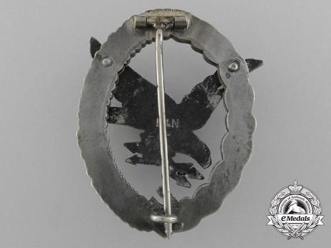Radio Operator & Air Gunner Badge, by Berg & Nolte Reverse