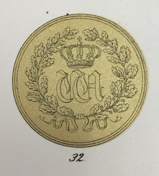 Medal for the Arts and Sciences, Type II, in Small Gold Obverse