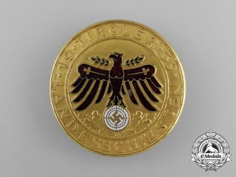 Tyrolean Marksmanship Gau Achievement Badge, Type III, in Gold Obverse
