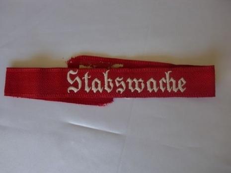 SA Stabswache Cuff Title Obverse