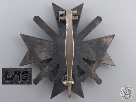 War Merit Cross I Class with Swords, by P. Meybauer (L/13, zinc) Reverse